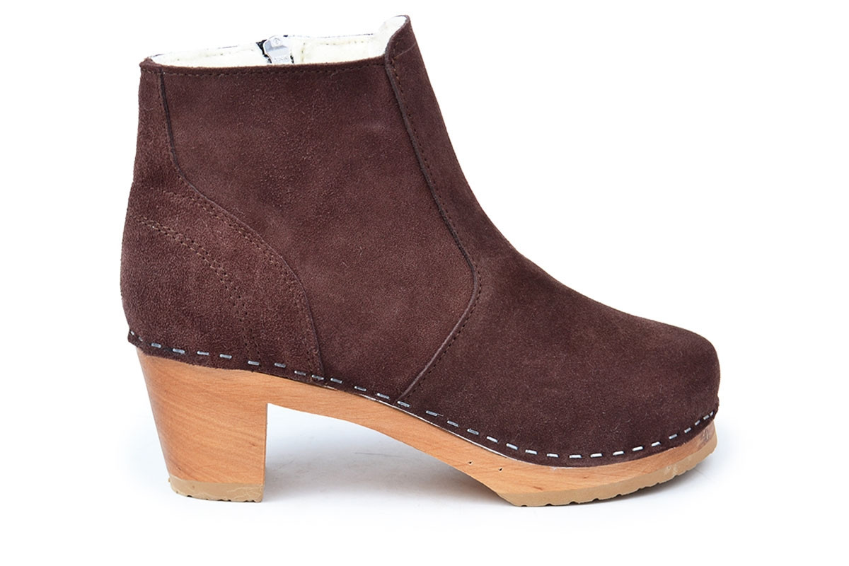 Auckland Shearling Brown Suede
