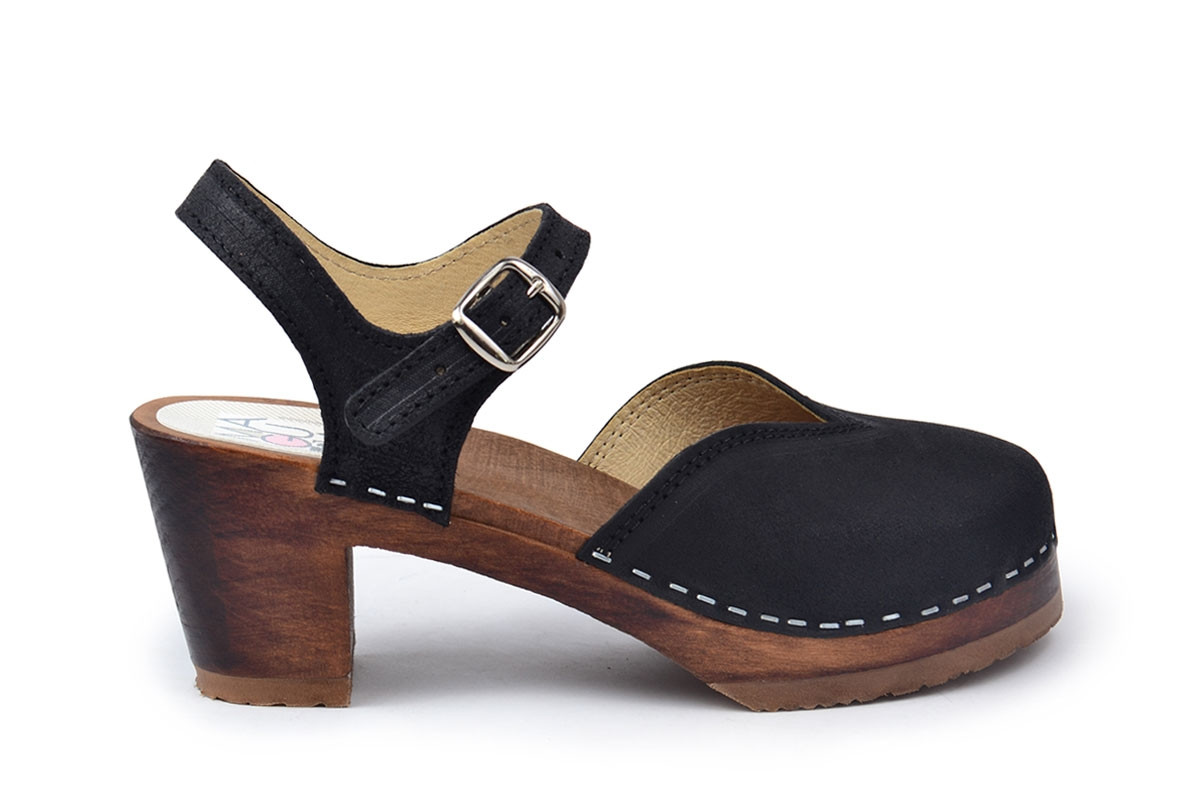 01493b3807b Clog Sandal in Black Suede Leather - Maguba s Official Webstore