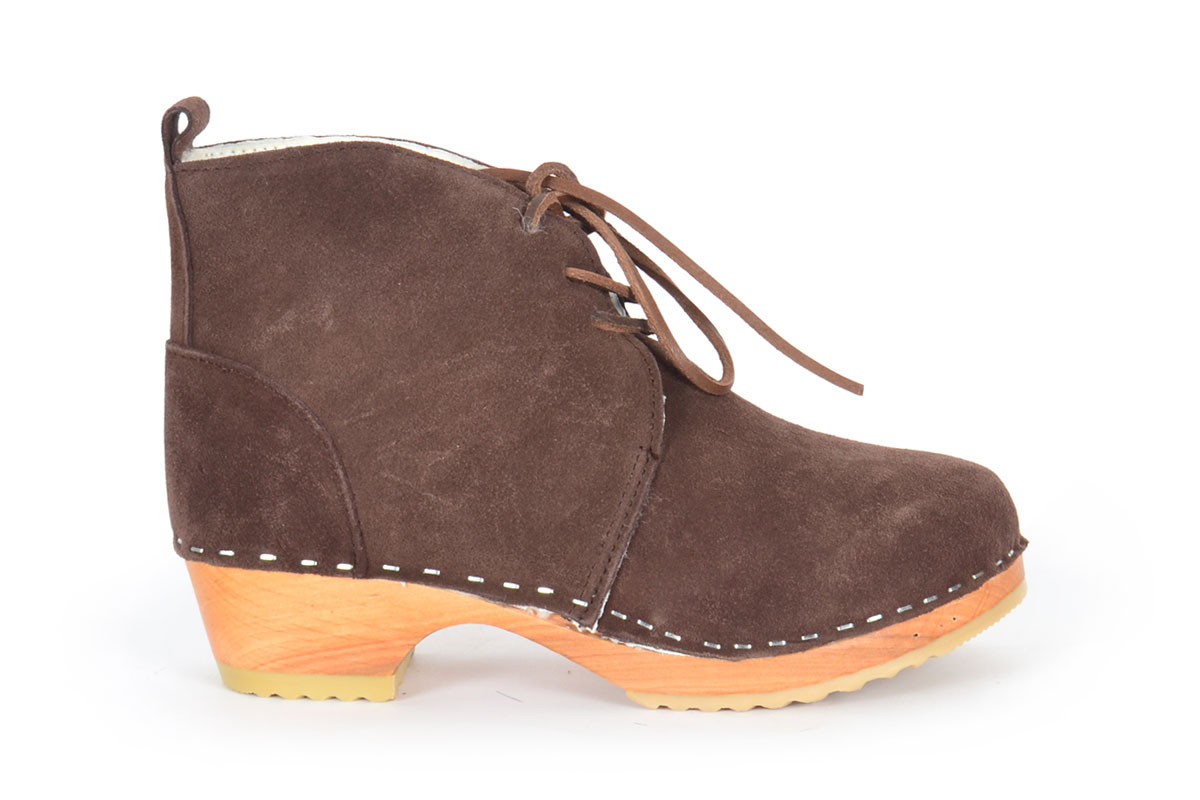 Montreal Shearling Brown Suede
