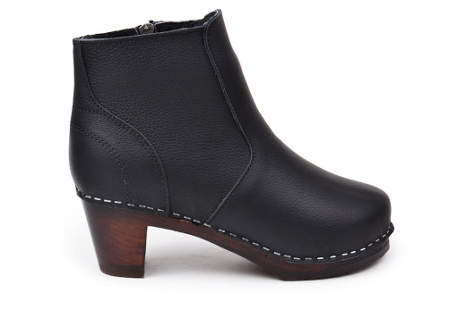 Auckland Shearling Pebbled Black