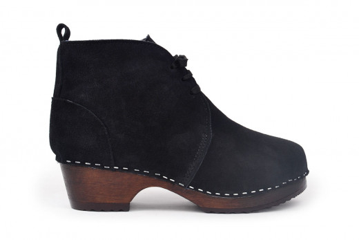 Montreal Shearling Black Suede